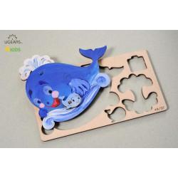 3D модель-розмальовка «Кит»