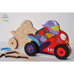 3D модель-розмальовка «Мотоцикліст»
