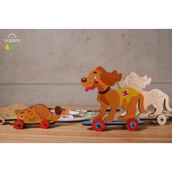 3D модель-розмальовка «Котик і песик»